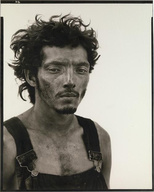 Roberto Lopez, Oil Field Worker, Lyons, Texas, 1980, by Richard Avedon