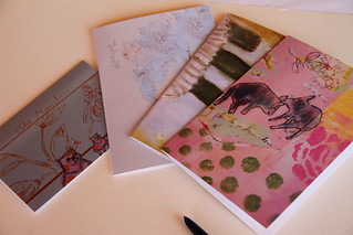 set greeting cards design
