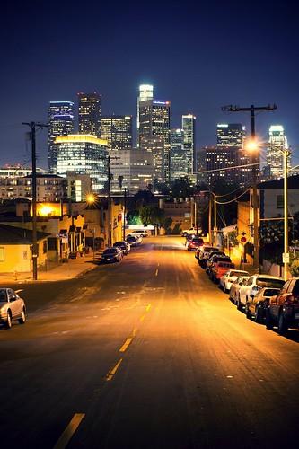 california street longexposure light usa building lamp vertical skyline night landscape photography losangeles downtown chinatown cityscape unitedstates sony atmosphere electricpole ericlo 35mmf14g nex5