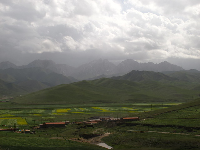 Chinese mountains, Gansu