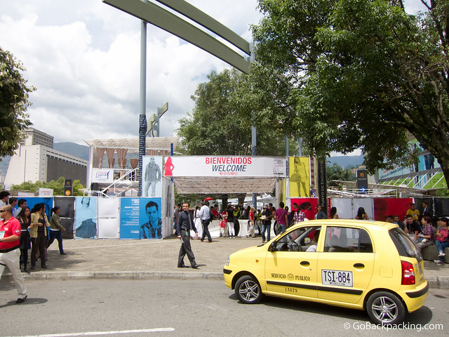 Colombiamoda's public exhibitions are held at Plaza Mayor