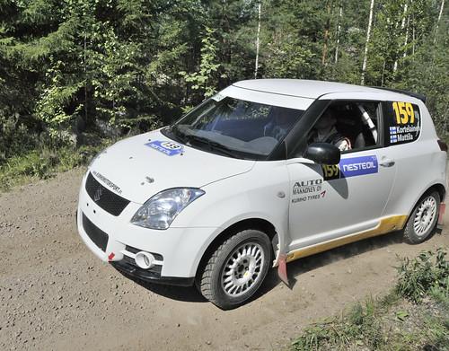 159 Matti Kortelainen and Hannu Mattila (FIN) Suzuki Swift Sport