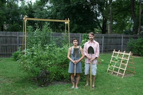 early-august garden. american gothic.