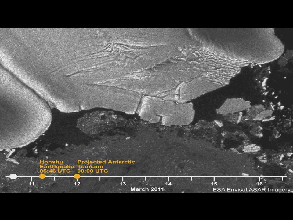 Tohoku Tsunami Separates Ice from Antarctica [time lapse]