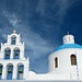 Church cupola and bell tower, Santorini