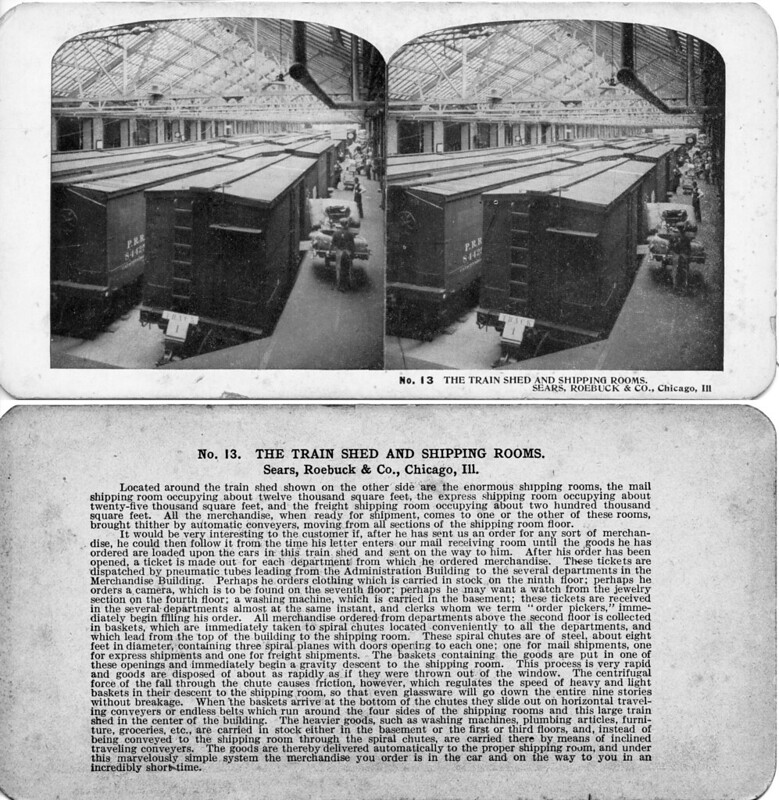 Train Shed and Shipping Rooms - Sears Roebuck Chicago ILL 1906