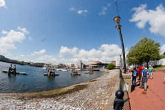 Cardiff bay view with fisheye