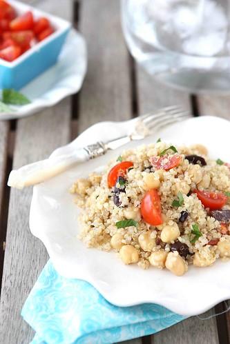 Quinoa Salad with Chickpeas, Kalamata Olives & Mint Recipe