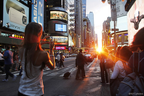 Manhattanhenge By @NYCphotos-flickr