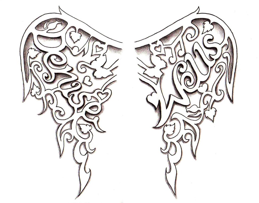 Angel Wings Tattoo Design By Denise A Wells These Persona Flickr