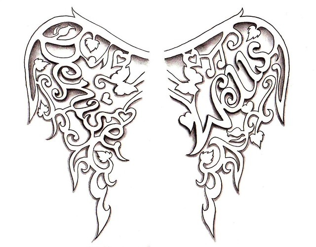 Small Angel Wings Tattoo Designs