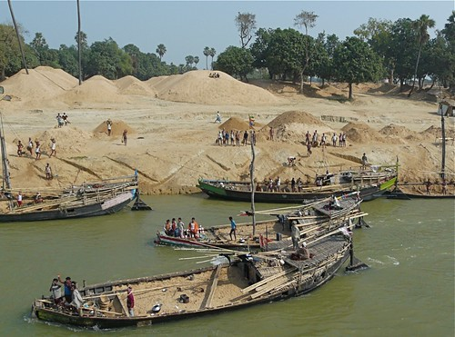 india work river boat ganga ganges bihar earthasia sandboats doriganj