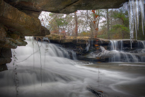 county winter cold ice landscape flow waterfall rocks alabama scenic marshall area icicles napg tonybarber neighborsmill