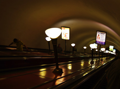 saint view metro russia escalator petersburg saintpetersburg