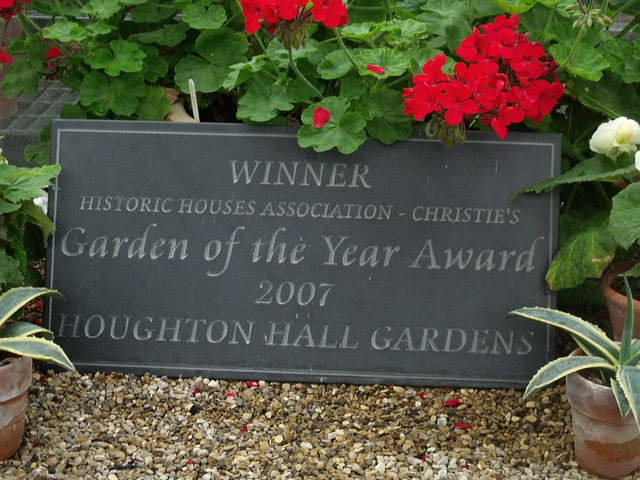 Houghton Hall Walled Garden Greenhouse Plaque