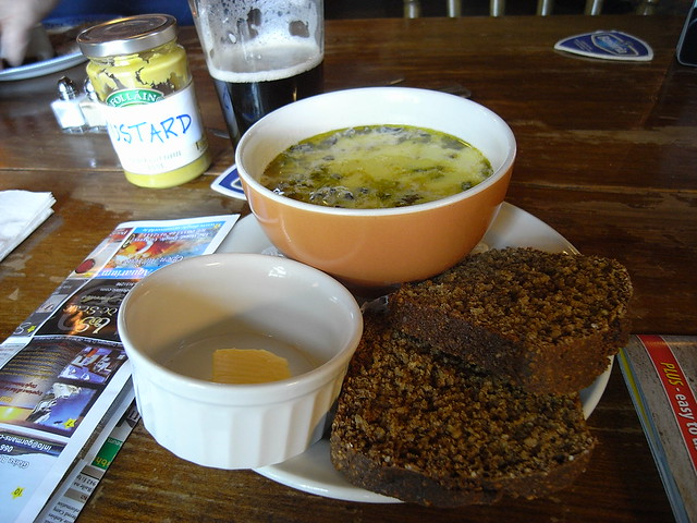 Seafood chowder, soda bread and a home-made pint