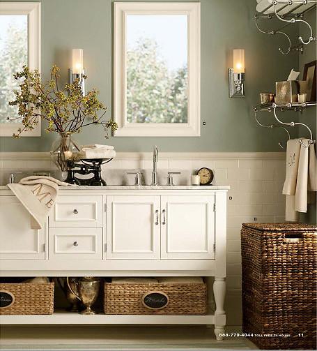 Blue bathroom design ideas vanities bath and light blue - Barn style lighting for bathroom ...