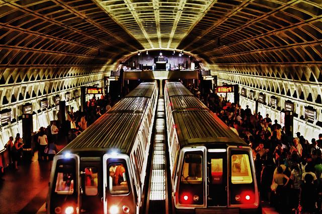 gallery place chinatown metro station  washington d c