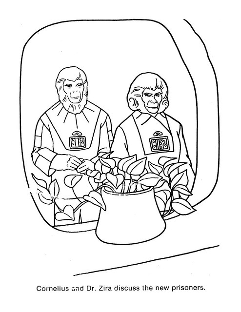 Planet of the Apes Coloring Book 0200027