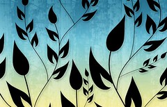 Climbing Vines Wallpapers in Cyan Light Yellow by BackgroundsEtc