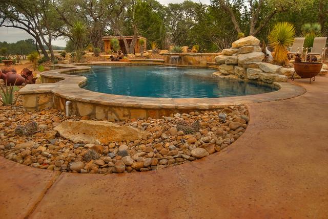 Desert pool low maintenance landscape flickr photo for Low maintenance pool landscaping