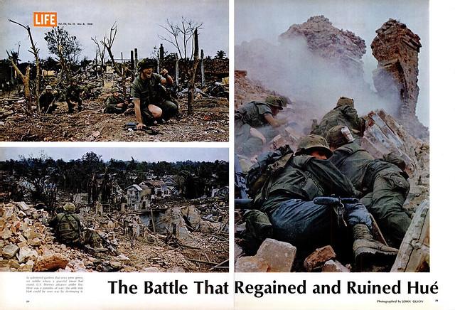 HUE - 1968 March 8 LIFE Magazine - Trận đánh giành lại và tàn phá Huế