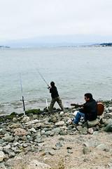 beach(1.0), fishing(1.0), sea(1.0), recreation(1.0), ocean(1.0), outdoor recreation(1.0), recreational fishing(1.0), shore(1.0), coast(1.0), fisherman(1.0), angling(1.0),