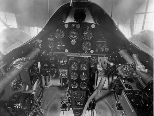 Grumman XF5F Skyrocket dashboard