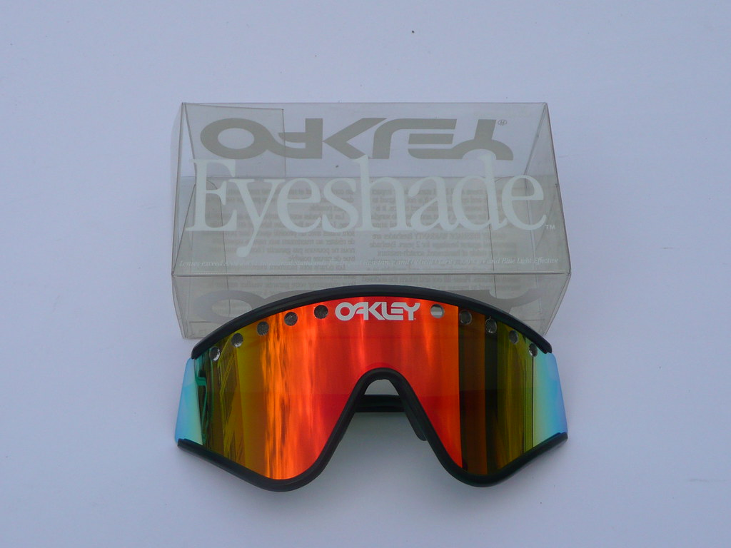 b6599da96d ... Oakley Eyeshades Factory Pilot Grey Black+Fire Iridium vented
