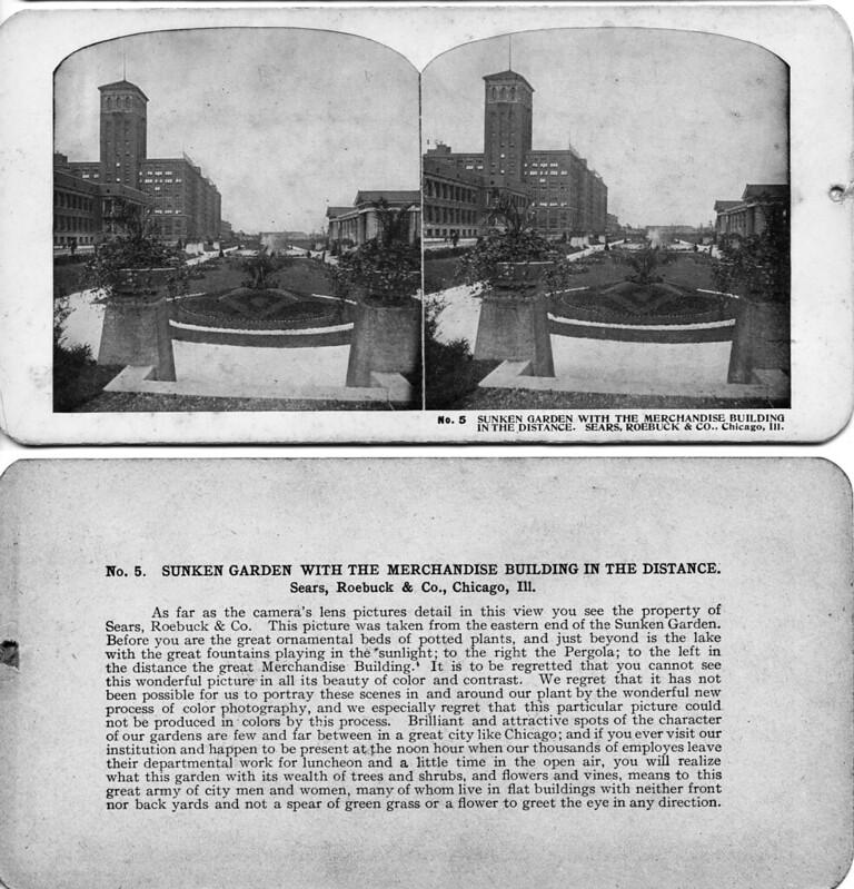 Sunken Garden - Sears Roebuck Chicago ILL 1906