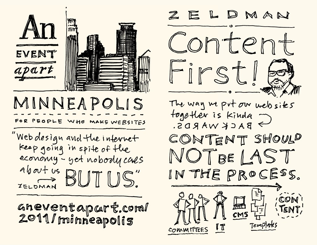 AEA Minneapolis Sketchnotes: Jeffrey Zeldman - 01-02