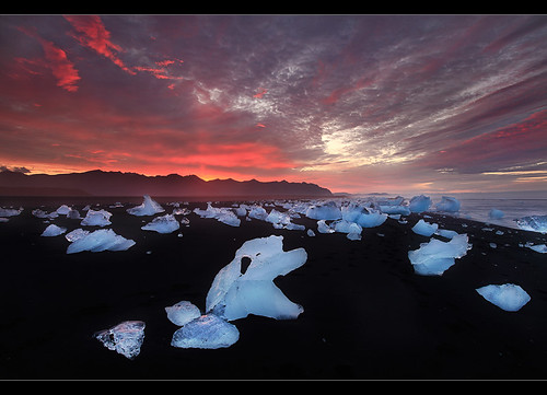 Colors of Nature - Sunrise at Jökulsárlón, Iceland.