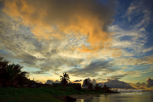 sunset clouds colorful skyward guam agana westhagatna