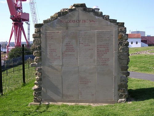 The Wallsend monument naming all the known Wall builders
