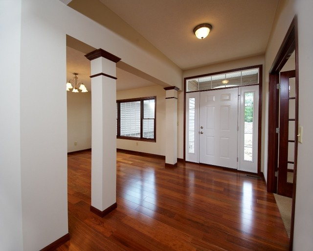 Square Columns with Oak Trim at Dining Room
