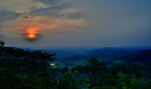sunset landscape nikon semarang d3100