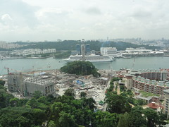 View from the Jewel Box Cable Car. Singapore