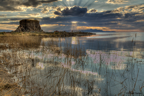 sunset sea cloud lake reflection beach nature water rock canon landscape ray outdoor mark saltlakecity greatsaltlake ii shore swamp 5d scape hdr blackrock