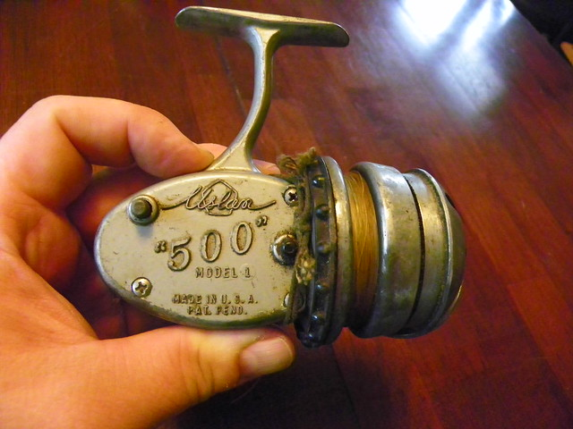 Grizzly garage sale antique fishing equipment finds for Fishing stuff for sale
