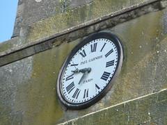 L'horloge de l'église de la Nocle Maulaix