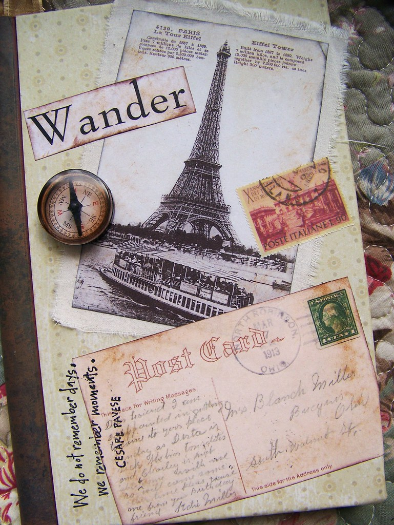 Altered/Collage Journal | Another recent altered blank journ