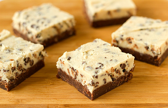 Brownies topped with chocolate chip cookie dough (egg-free!) | Flickr ...