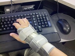 Brace With Keyboard Tray, Carpal Tunnel Syndrome