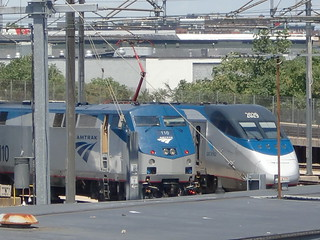 Amtrak GE P42DC 110 & Acela Power Car 2029