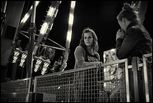 a girl at the fairground