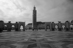 Huge square at Hassan II mosque