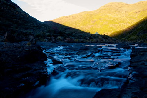 africa longexposure sunset mountain reflection texture ice water colors river landscape oxbow lesotho