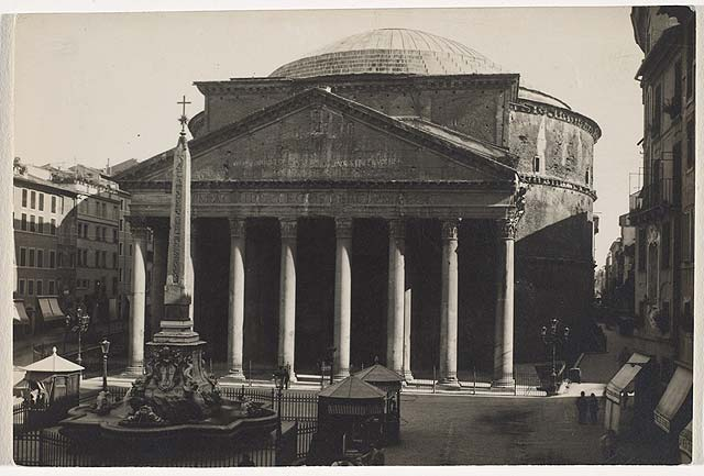 The Pantheon, Rome, 1927, by Walker Evans