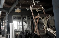 Suspended chair: front.