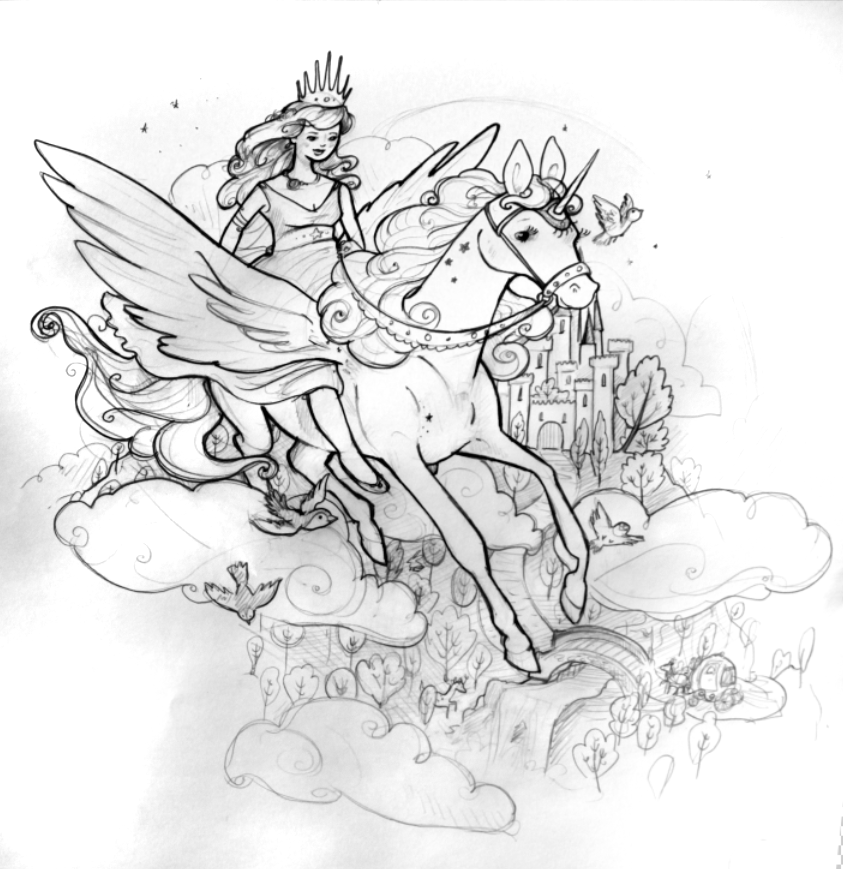 Princess Unicorn Coloring Page Princess Unicorn Coloring Pages Free Coloring Sheets